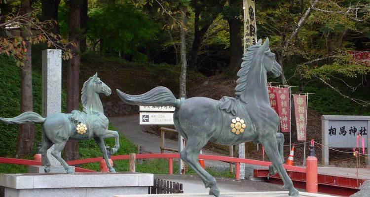 相馬神社 狛犬ではなくコマ馬