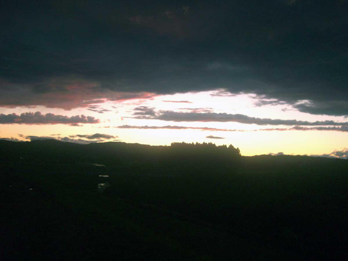 豊田農園から夕焼け